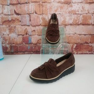 Clarks Collection Loafers Size 8W Brown